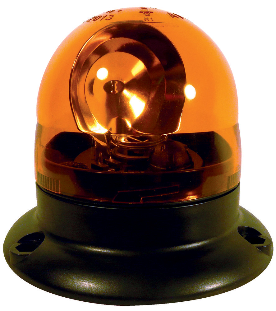 Photo du Gyrophares Gyrophare orange microboule base plate