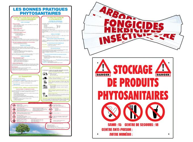 Photo du Locaux phytosanitaires Signalétique pour les produits phytosanitaires