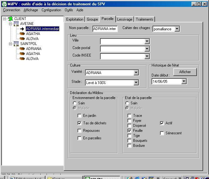 Photo du Services et logiciels de surveillance des cultures Milpv