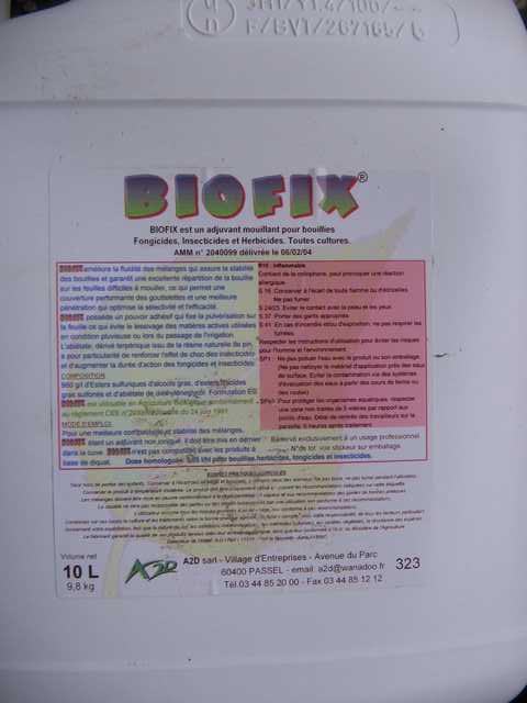 Photo du Mouillant, étalant, pénétrant Biofix