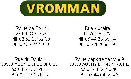 Photo du Vente de matériels neufs Base Vromman d'Auchy (60)
