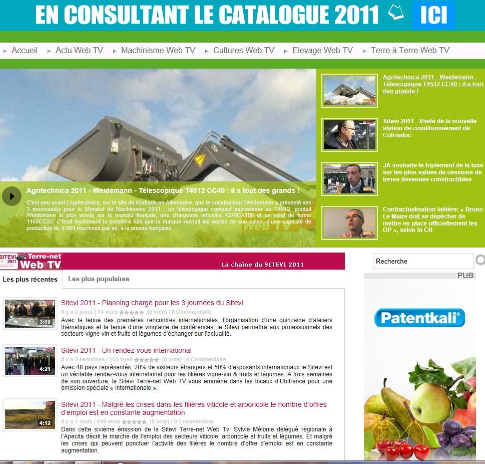 Photo du sites internet généralistes terre-net-webtv.fr