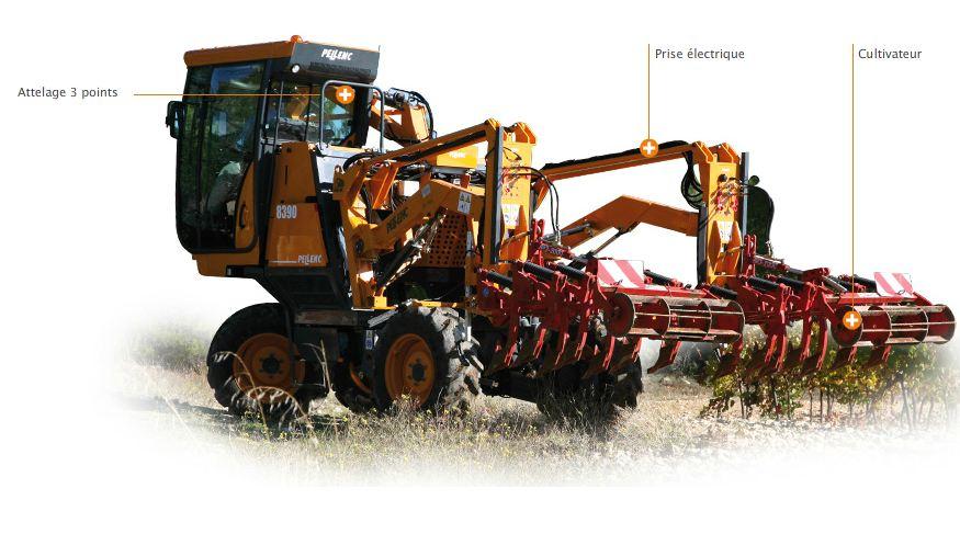 Photo du Tracteurs vignerons Porte-outils